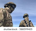 special forces soldier in... | Shutterstock . vector #588599405