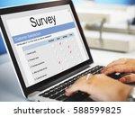 customer satisfaction online... | Shutterstock . vector #588599825