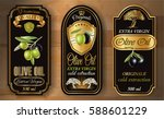 vector vintage style olive oil... | Shutterstock .eps vector #588601229