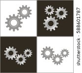gears on a white background and ... | Shutterstock .eps vector #588601787