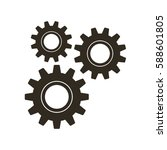 gears on a white background.... | Shutterstock .eps vector #588601805