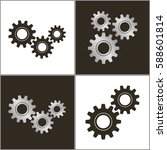 gears on a white background and ... | Shutterstock .eps vector #588601814
