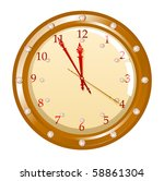 illustration of holiday clock... | Shutterstock . vector #58861304