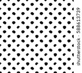 vector seamless pattern. black... | Shutterstock .eps vector #588613739