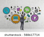 rear view of a young...   Shutterstock . vector #588617714