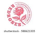 red rose logo   vector...