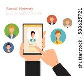 communication technology on... | Shutterstock .eps vector #588625721
