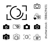 digital camera icons isolated.... | Shutterstock .eps vector #588629651