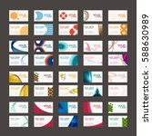 20 colorful business card... | Shutterstock .eps vector #588630989