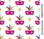 mardi gras festival mask...   Shutterstock .eps vector #588633959