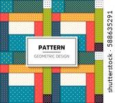 geometric seamless pattern | Shutterstock .eps vector #588635291