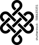 monochrome celtic pattern.... | Shutterstock .eps vector #588635351