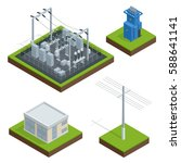 electric energy factory... | Shutterstock . vector #588641141
