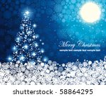 abstract winter blue background ... | Shutterstock .eps vector #58864295