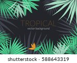 tropical leafs composition... | Shutterstock .eps vector #588643319
