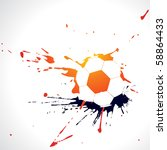 vector abstract football design ... | Shutterstock .eps vector #58864433