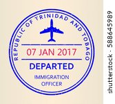 passport stamp. travel by plane ... | Shutterstock .eps vector #588645989