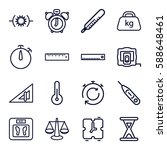 measurement icons set. set of... | Shutterstock .eps vector #588648461