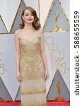 Small photo of Emma Stone at the 89th Annual Academy Awards held at the Hollywood and Highland Center in Hollywood, USA on February 26, 2017.