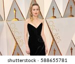 brie larson at the 89th annual... | Shutterstock . vector #588655781