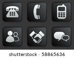 communication icons on square... | Shutterstock .eps vector #58865636