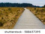 pathway and forest in belgium's ... | Shutterstock . vector #588657395