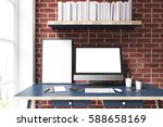 close up of a computer monitor... | Shutterstock . vector #588658169