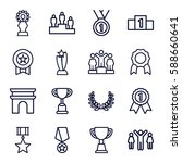victory icons set. set of 16... | Shutterstock .eps vector #588660641