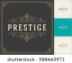 royal logo design template... | Shutterstock .eps vector #588663971