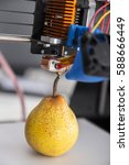 3d printing ripe juicy pear ... | Shutterstock . vector #588666449