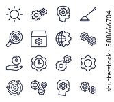 gear icons set. set of 16 gear... | Shutterstock .eps vector #588666704