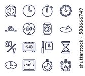 hour icons set. set of 16 hour... | Shutterstock .eps vector #588666749