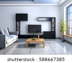 the interior in style of... | Shutterstock . vector #588667385