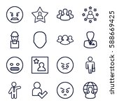 user icons set. set of 16 user... | Shutterstock .eps vector #588669425