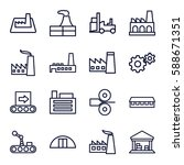 factory icons set. set of 16... | Shutterstock .eps vector #588671351