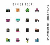 office icon set | Shutterstock .eps vector #588674141