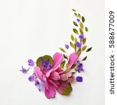beautiful corner frame | Shutterstock . vector #588677009