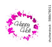 happy holi watercolor splash... | Shutterstock .eps vector #588678011