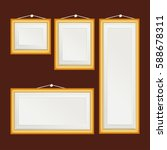 blank picture frame template... | Shutterstock .eps vector #588678311