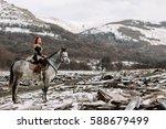 Viking Girl On Horseback ...