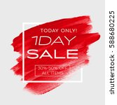 one day sale special offer sign ... | Shutterstock .eps vector #588680225