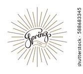 spring time. creative... | Shutterstock .eps vector #588683345