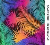carnival festival poster vector ... | Shutterstock .eps vector #588688901