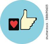 design like icon. | Shutterstock .eps vector #588690605