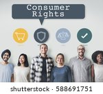 consumer rights protection... | Shutterstock . vector #588691751