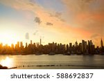 Sunrise Of Manhattan Skyline ...