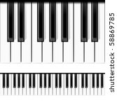 piano keys. seamless vector. | Shutterstock .eps vector #58869785