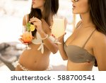 pretty young women with... | Shutterstock . vector #588700541