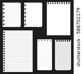 set of paper sheets for web... | Shutterstock .eps vector #588702179