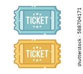 blue ticket and golden ticket... | Shutterstock .eps vector #588704171